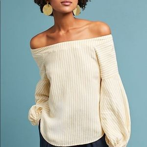 NWT Anthropologie Clotille Off-the-Shoulder Blouse